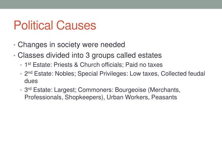 Political Causes