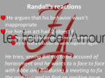 randall s reactions