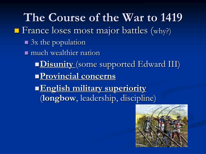 The Course of the War to 1419