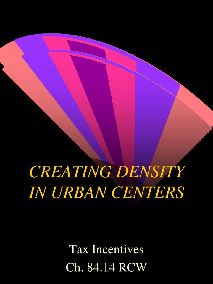 creating density in urban centers n.