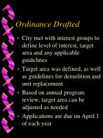 ordinance drafted