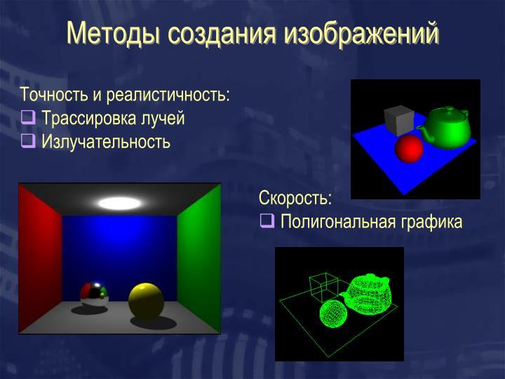 Методы создания изображений