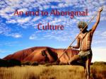 an end to aboriginal culture