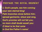 prepare the royal highway1