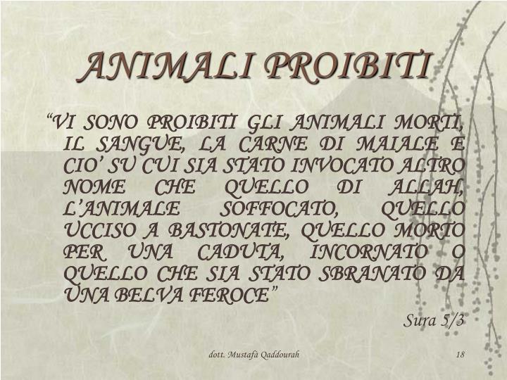 ANIMALI PROIBITI