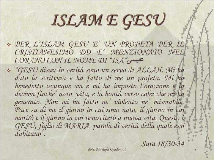 ISLAM E GESU