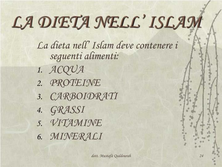 LA DIETA NELL' ISLAM