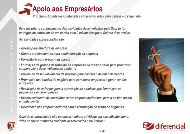 Apoio aos Empresários