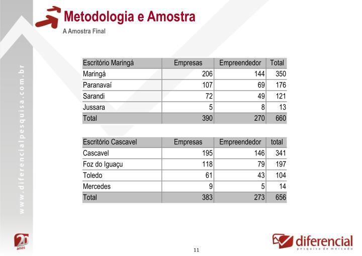 Metodologia e Amostra
