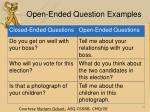 open ended question examples
