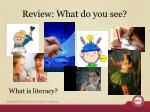 review what do you see