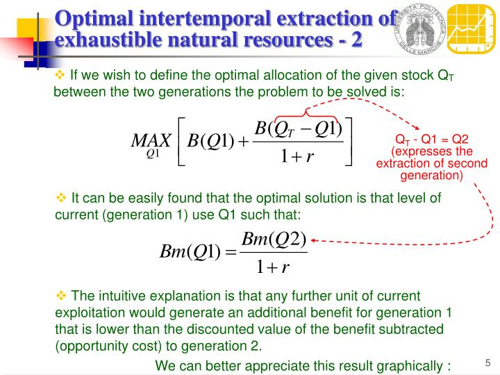 If we wish to define the optimal allocation of the given stock Q
