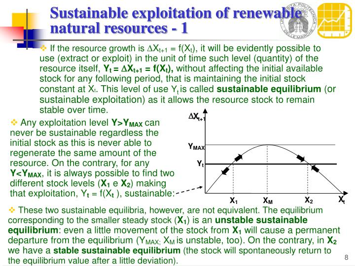 Sustainable exploitation of renewable natural resources - 1