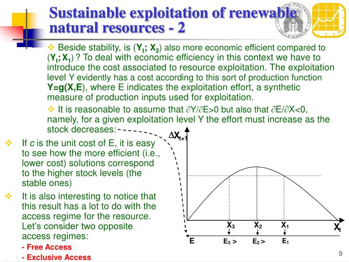 Sustainable exploitation of renewable natural resources - 2