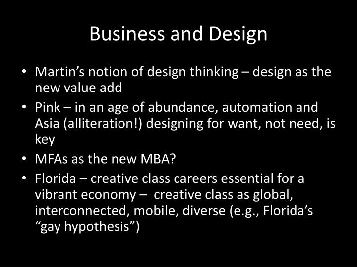 Business and design