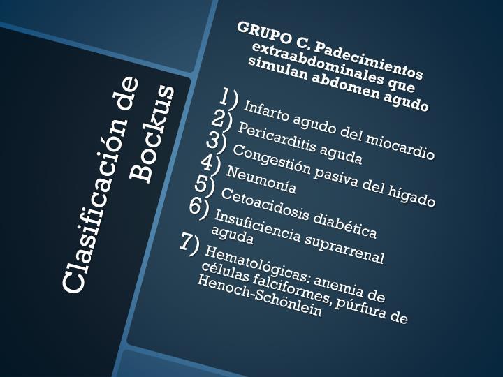 GRUPO C. Padecimientos