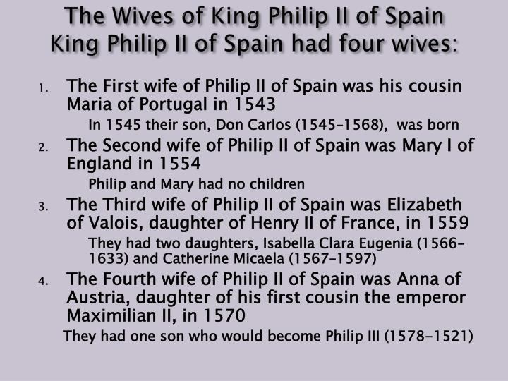 The Wives of King Philip II of Spain
