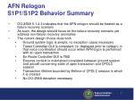 afn relogon s1p1 s1p2 behavior summary