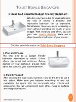 toilet bowls singapore