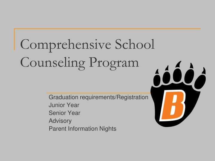 Comprehensive school counseling program
