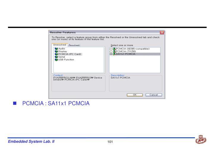 PCMCIA : SA11x1 PCMCIA