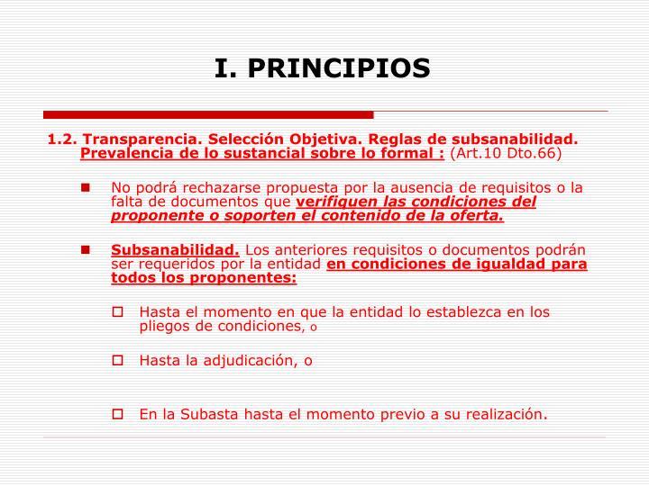 I principios