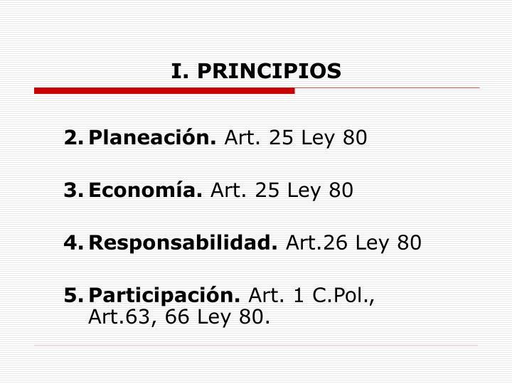I. PRINCIPIOS
