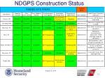ndgps construction status