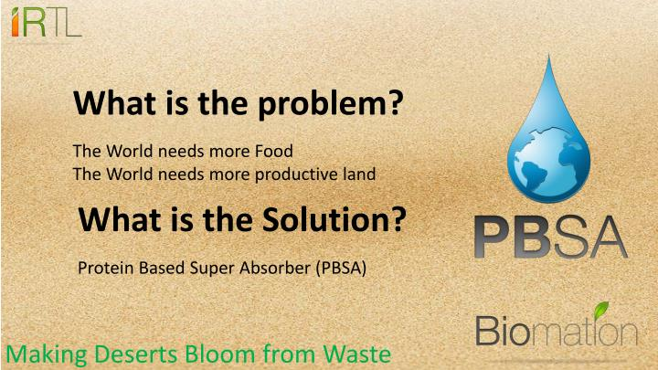 Making deserts bloom from waste1