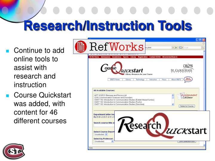 Research/Instruction Tools