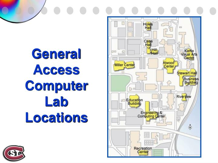 General Access Computer Lab Locations