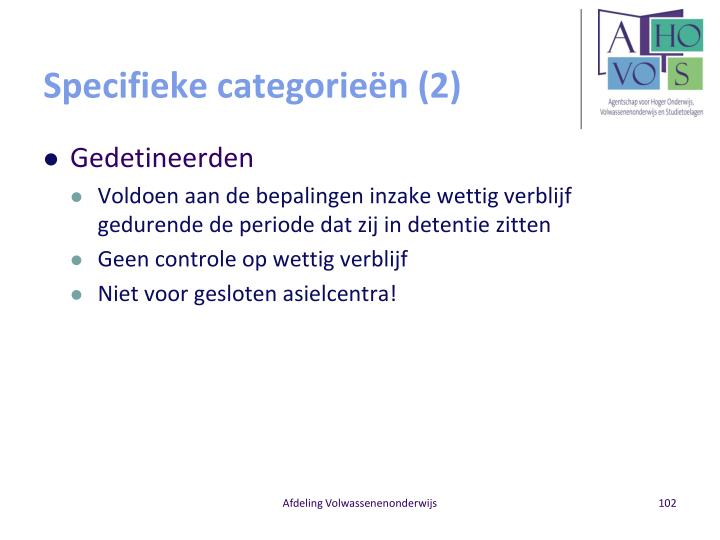 Specifieke categorieën (2)