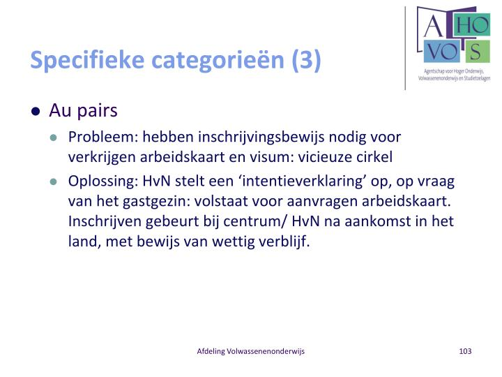 Specifieke categorieën (3)