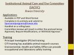 institutional animal care and use committee iacuc rowan university1