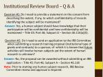 institutional review board q a
