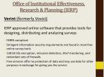 office of institutional effectiveness research planning ierp1