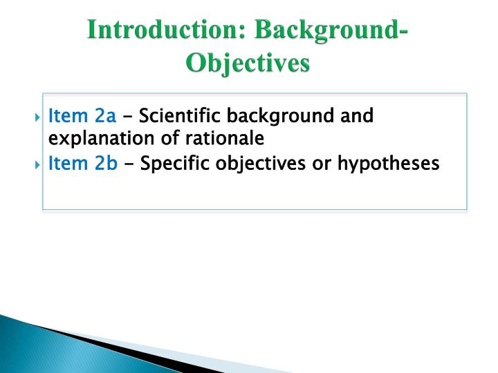 Introduction: Background-Objectives