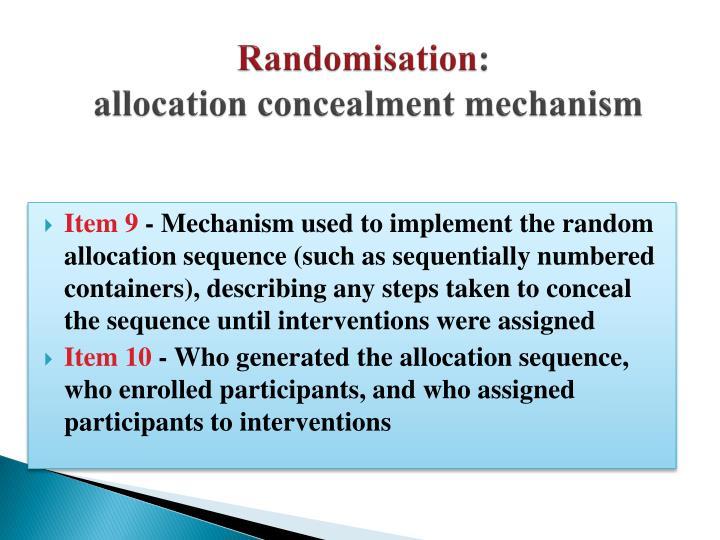 Randomisation