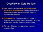overview of safe horizon