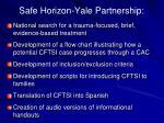 safe horizon yale partnership