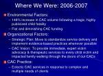 where we were 2006 2007