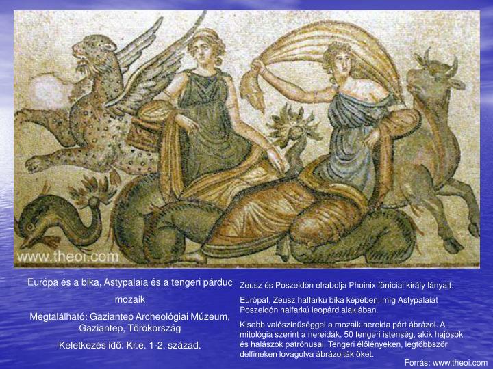 Európa és a bika, Astypalaia és a tengeri párduc