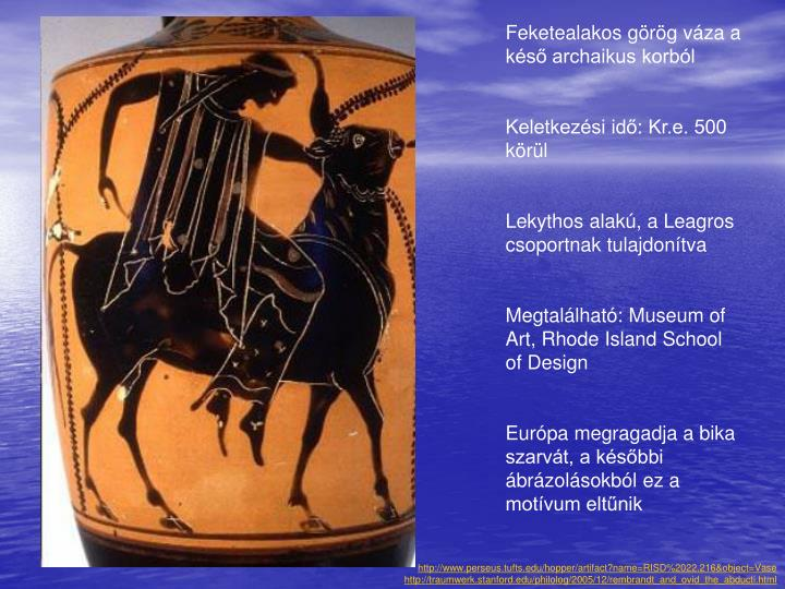 Feketealakos görög váza a késő archaikus korból