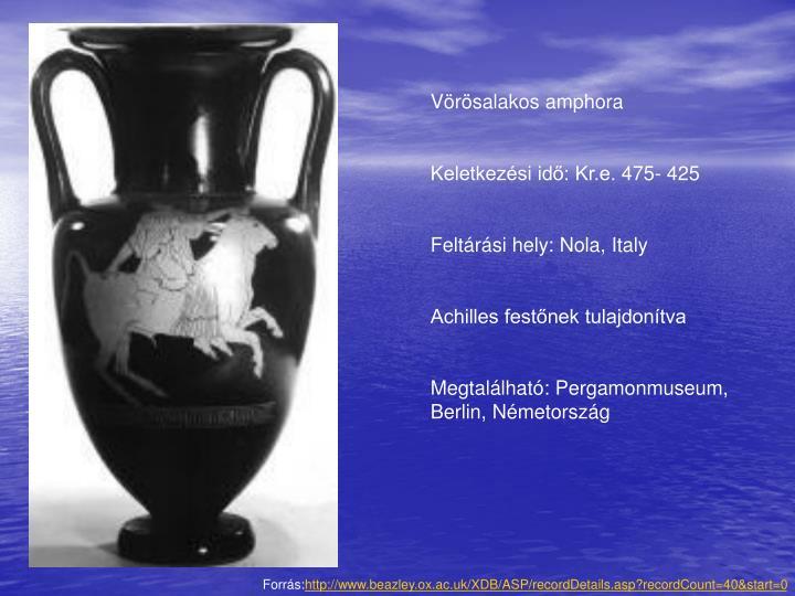 Vörösalakos amphora