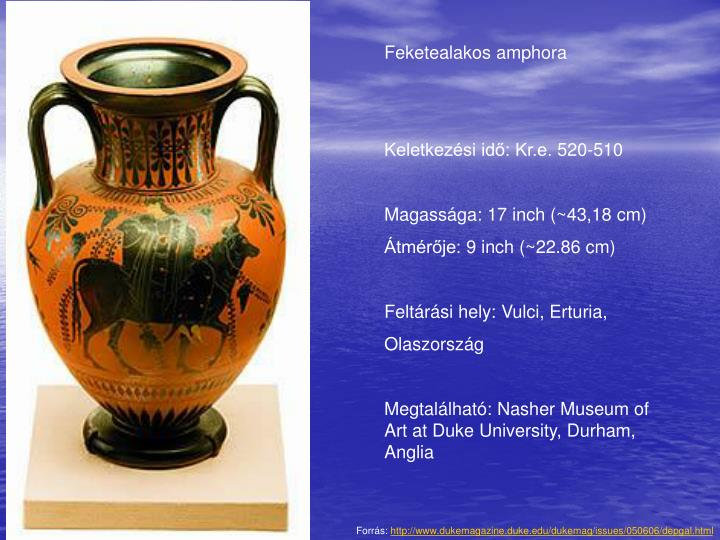 Feketealakos amphora