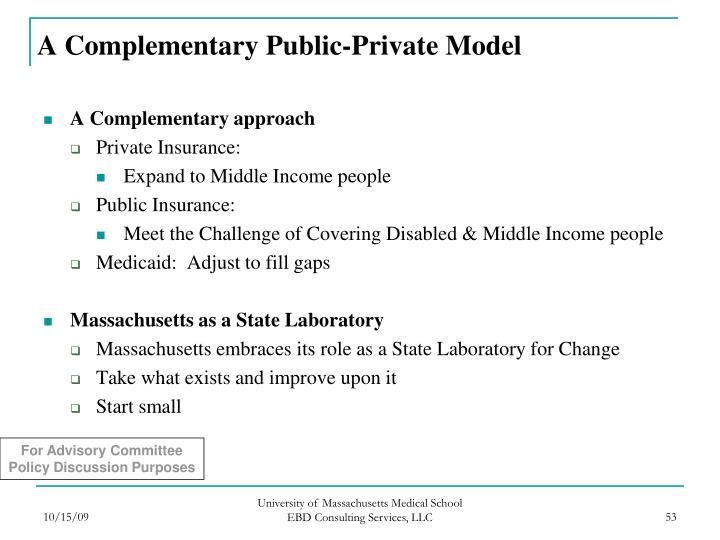 A Complementary Public-Private Model