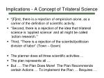implications a concept of trilateral science