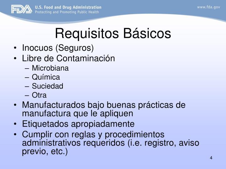 Requisitos Básicos