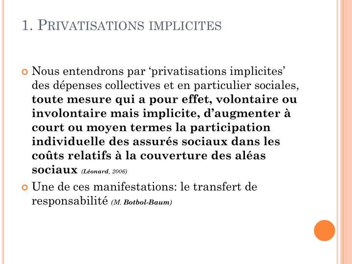 1 privatisations implicites
