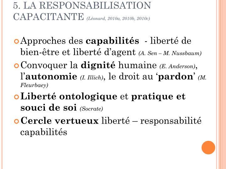 5. LA RESPONSABILISATION CAPACITANTE